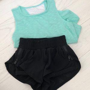 Zella Girls 5/6 Athletic Set Shorts And Tank